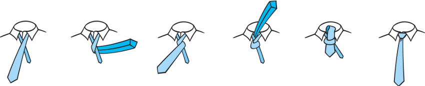 Tie a tie how to tie a tie printable overview four in hand tie knot ccuart Choice Image